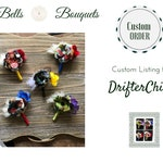 Custom Order for DrafterChick - Comic Book Boutonnieres - Batman, Flash, Hulk, and Two Spiderman
