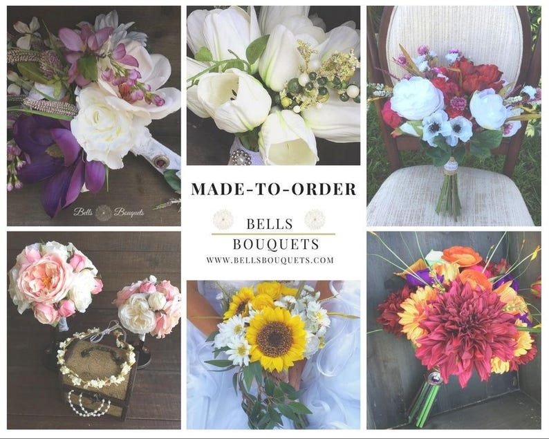 Made to Order Silk Wedding Bouquets Bridesmaids Bouquets image 0