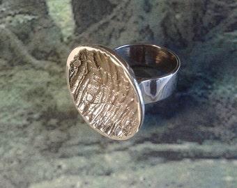 Curvecorce - Bronze handmade ring - nature inspired - bark - forest spirit.