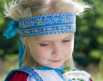 Russian traditional cotton headdress Povyazka, Girl headdress, Woman headdress