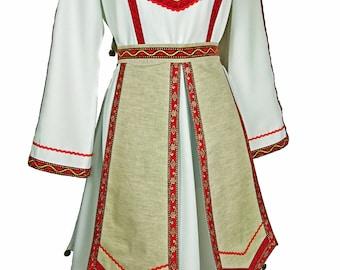 Traditional Mari El suit, Mari woman costume, dance costume, scenic european costume, traditional mariy el costume, Chuvash costume