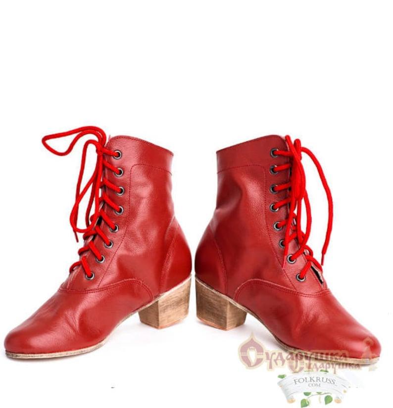 Swing Dance Shoes- Vintage, Lindy Hop, Tap, Ballroom Woman Russian Dance Cossack Shoes Kadrille Cossack boots Dance boots Russian boots $87.00 AT vintagedancer.com