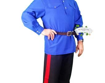 Cossack men costume, Dance costume for men, cossack men shirt, cossack trousers, Folk costume