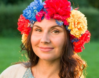 Ukrainian wreath, Flowered crown, Accessory, Flowered wreath, Venok, Vinok