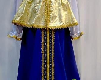 Russian traditional slavic dress for woman Sudarushka, Scenic tradition costume, Russian costume, Russian dress, Scenic dress, Folk costume