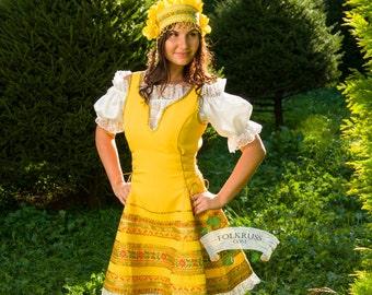 Russian traditional dress Annushka, Dance russian dress, Scenic woman costume, Traditional dance woman dress