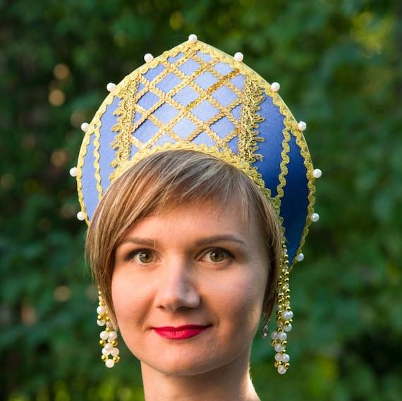 imágenes oficiales el precio más baratas mejores zapatos Fabulosa ruso tradicional sombrero, Ruso: corona Kokoshnik, mujer, sombrero  ruso tocado, tiara rusa, esta corona de oro