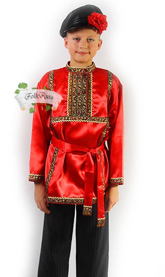 chemise en soie traditionnelle russe kosovorotka slave etsy. Black Bedroom Furniture Sets. Home Design Ideas