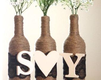 Monogram Wine Bottles