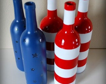 4th of July themed bottles & jars