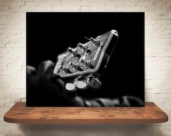 Guitar Photograph - Fine Art Print - Wall Decor - Black & White Photo - Pictures Guitars - Wall Art - Music - Modern Decor - Contemporary