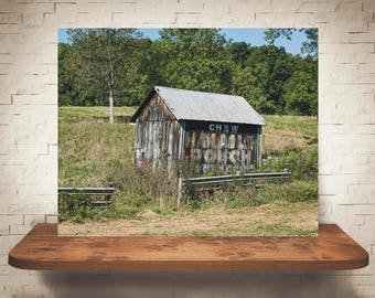 Mail Pouch Barn Photograph - Fine Art Print - Color Photography - Wall Art - Wall Decor -  Barn Pictures - Farmhouse Decor - Chippy