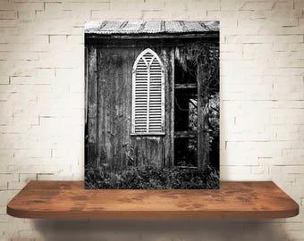 Old Chippy Barn Photograph - Fine Art Print - Black White Photography - Wall Art -  Farm Pictures - Farmhouse Decor - Architecture