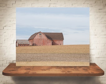 Red Barn Photograph - Fine Art Print - Farm Photography - Wall Art - Wall Decor -  Barn Pictures - Farmhouse Decor - Field - Clouds