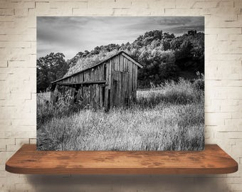 Barn Photograph - Fine Art Print - Black White Photography - Wall Art - Barn Pictures - Farmhouse Decor - Clouds - Country - Rustic