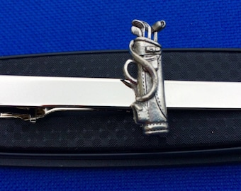 Golf Bag Tie Clip~Golf Clubs Golf Irons Tie Bar~Handmade in the USA~FAST  Shipping from the USA~ 00d09a6b1ef35