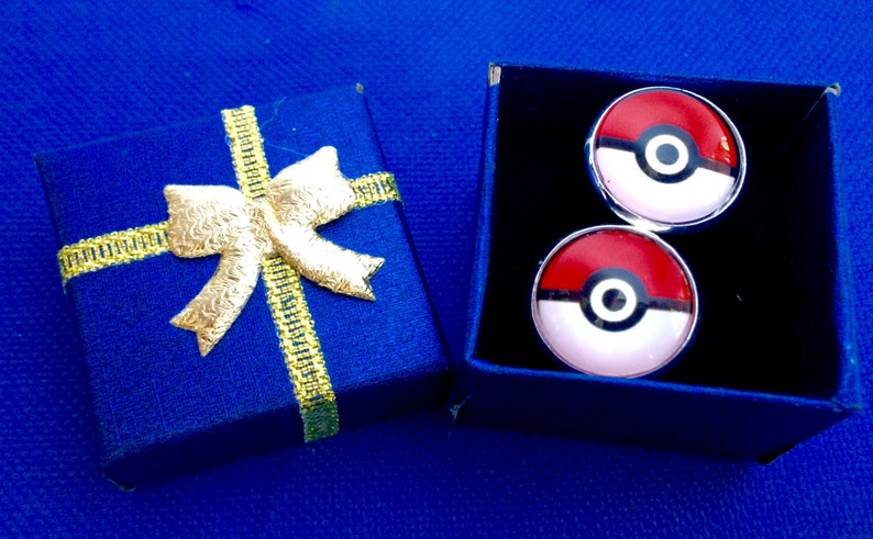 Pokemon Pokeball tie bar /& cufflinks pokemon go tie clip gift idea~Handmade in the USA~FAST Shipping from the USA~
