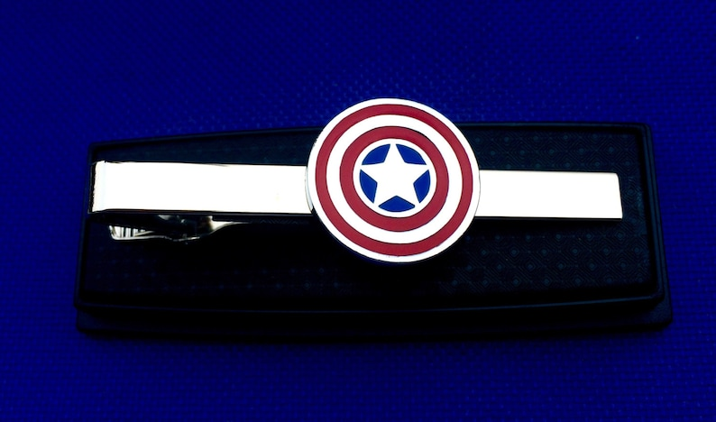 Captain America tie bar gift idea tie clasp~Handmade in the USA~FAST Shipping from the USA~