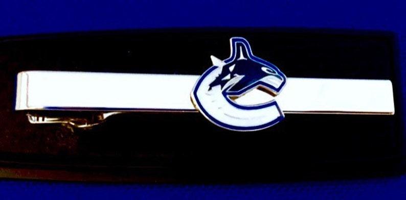 Vancouver Canucks tie clip Hockey Logo tie clasp gift idea Tie Bar~Handmade in the USA~