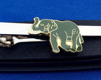 Elephant Tie Bar~Tie Clip~Mammal Tie Clip~Handmade in the USA~FAST Shipping from the USA~Father's Day Gift