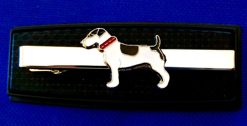 Jack Russell tie bar terrier tie clasp gift idea dog tie clip~Handmade in the USA~FAST Shipping from the USA~
