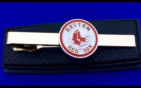 Idee Cadeau Etats Unis.Idee Cadeau Boston Red Sox Pince A Cravate Baseball Logo Attache Fermoir Fait A La Main Aux Etats Unis