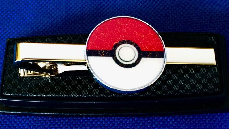 ddf23b751bb6 Pokemon Pokeball tie bar pokemon go tie clip gift | Etsy