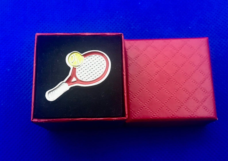 Tennis Racket pin Lapel Pin Handmade in the USA~FAST Shipping from the USA New