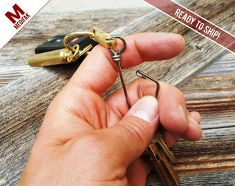 Every Day Carry Brass Key Chain Swivel EDC Every Day Carry Gear Key Ring Split Ring Key Attachment