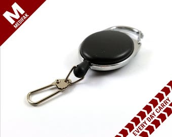 Retractable ID Badge Lanyard Snap Hook EDC Every Day Carry Key Chain Badge Holder ID Holder Extendable Key Chain Lanyard Badge Reel