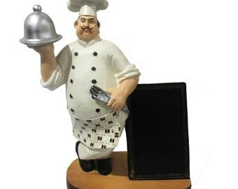 Chef Figurine Cook Chef Collectible Statue for Bistro Bakery Restaurant Cafe