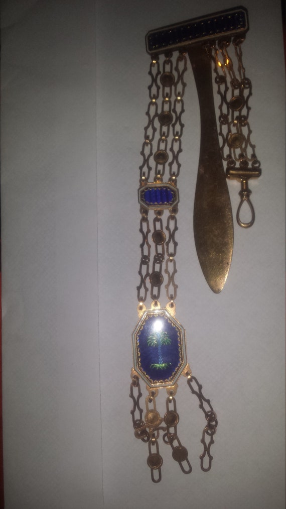 18ct gold Chatelaine antique