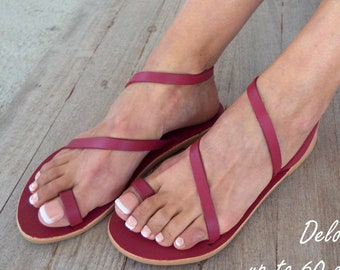 "Sandals  ""Eleni"" Greek sandals, Leather sandals, Delos Art Exclusive , Greek sandals,, Made to order"