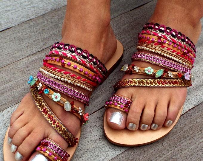 Featured listing image: Magenda Sandals, Leather sandals, Greek Sandals, bohemian shoes,  sandals, Summer shoes, Women's Shoes,  leather shoes, boho sandals