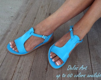 Leather strap sandals, Delos Art Exclusive , Greek sandals, leather Greek sandals, bride handmade sandales, Made to order
