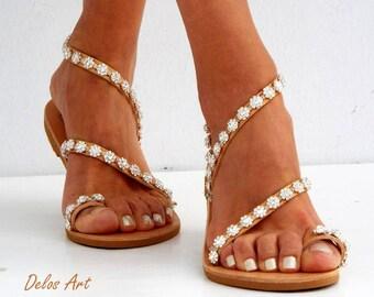 9bece5eab35a Crystal silver flowers Bridal sandals