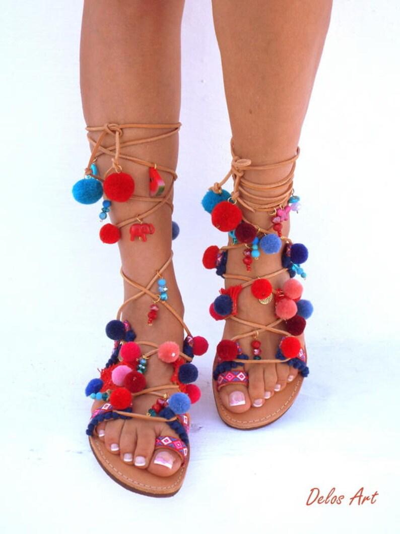 8f39b31d10df POM Pom Sandals American Dream Leather Sandals