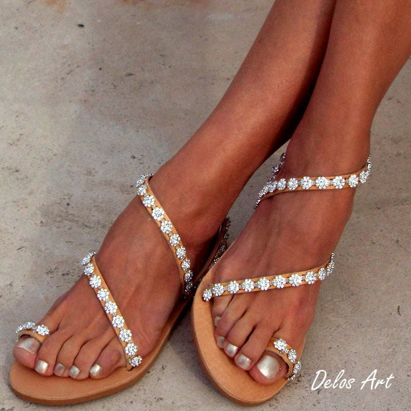 Crystal silver flowers bridal sandals leather sandals white beach gallery photo gallery photo gallery photo gallery photo junglespirit Choice Image