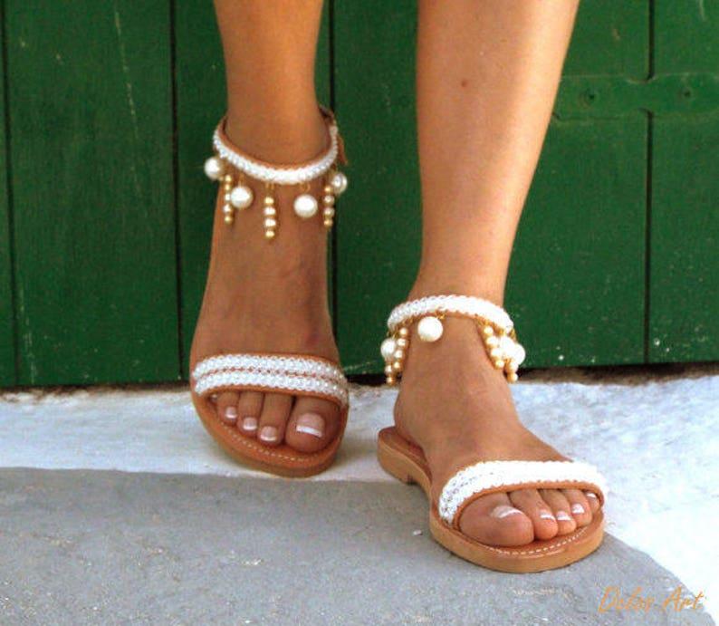 01614bcff Moonlight Bridal sandals Leather sandals White Beach Wedding