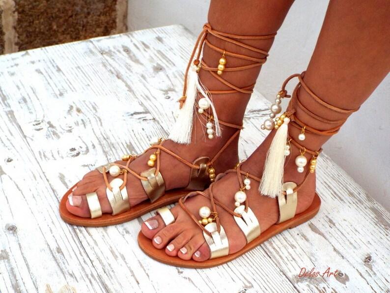 5ac0e62a13fb Afrodite Bridal sandals White Beach Wedding Sandals Ivory