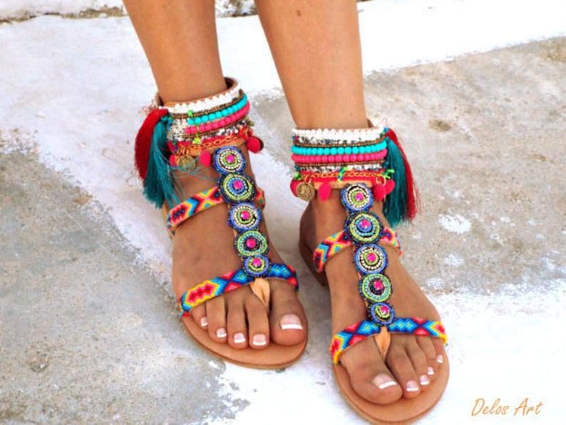 PomEtsy Inka Sandals Amitiés Chaussures Boho D'été kPTlwXZOiu