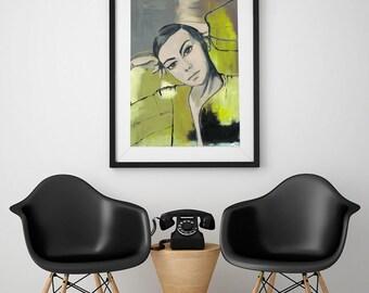 Natalie, fine-arts print with Passepartout