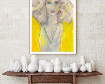 Linda, fine-arts print with Passepartout