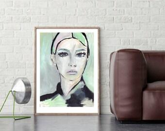 Lydia I, fine-arts print with Passepartout