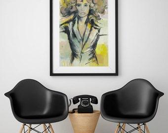 Raquel, art print with Passepartout
