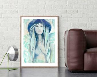 Eve, fine-arts print with Passepartout