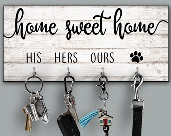 Home Sweet Home Personalized Key Ring Holder 62da3c398b
