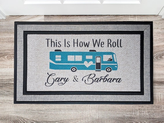 This Is How We Roll Personalized Door Mat Housewarming Gift