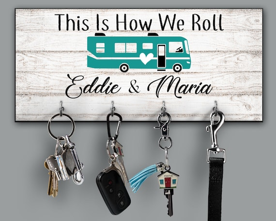 This Is How We Roll Personalized Key Holder Motor Home RV