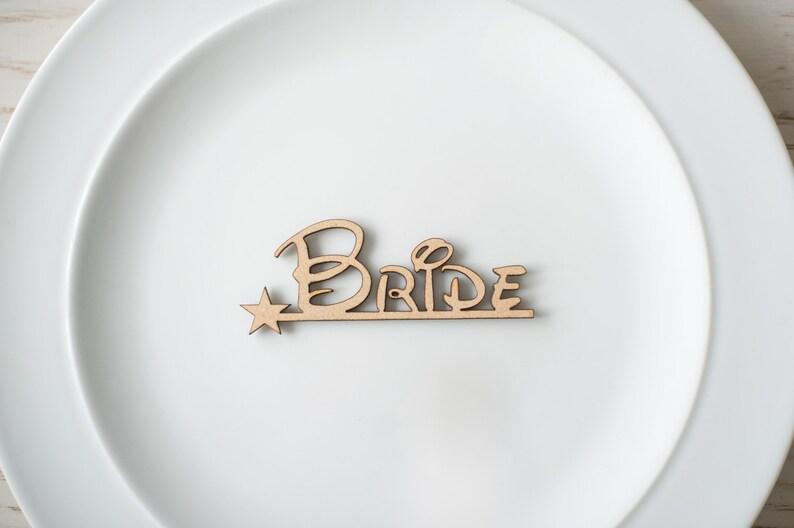 Wooden Lasercut Wedding Name Places